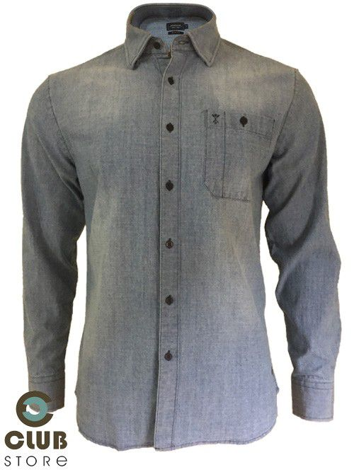 Camisa ARROW USA Slim Fit - Jeans Delave