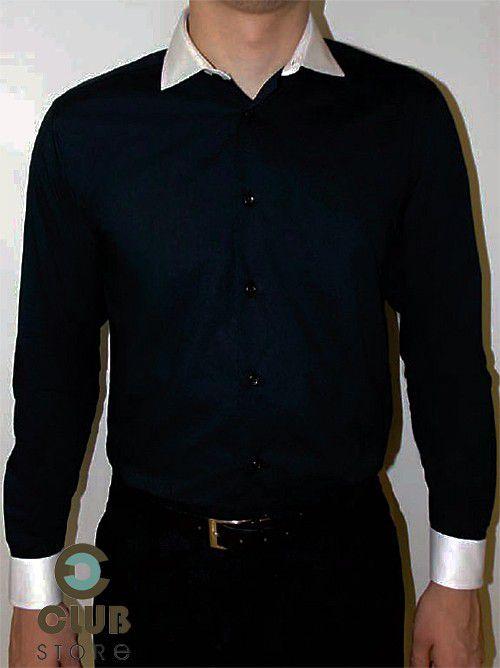 Camisa Social Slim Fit Arrow USA Fio 80 - Preta