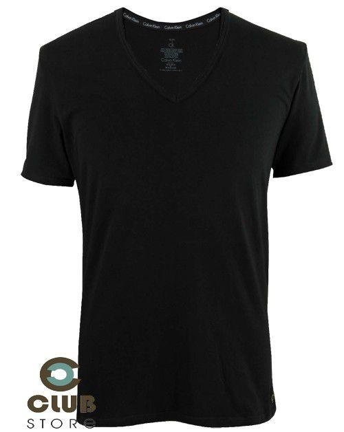 Camiseta Calvin Klein linha CK One - Preta (Pct. c/ 02)