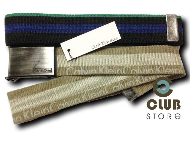 Cinto Calvin Klein - Militar Lonado (Kit c/ 2)