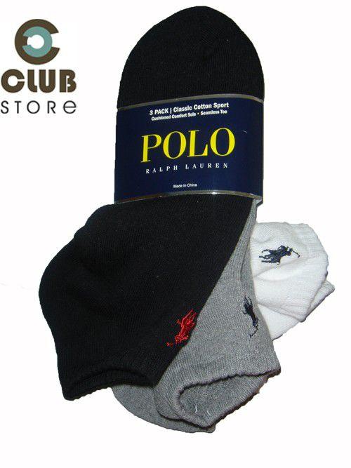 Meias Ralph Lauren Athletic Socks (03 unidades)