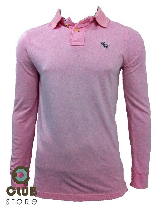 Polo Abercrombie & Fitch / Manga Comprida - Rosa