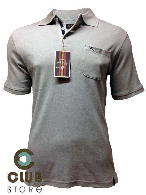 Polo Arrow - Cinza c/ Bolso
