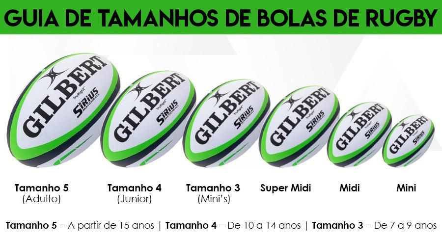 Bola de Rugby Gilbert Barbarian Brasil Rugby - Tamanho 5