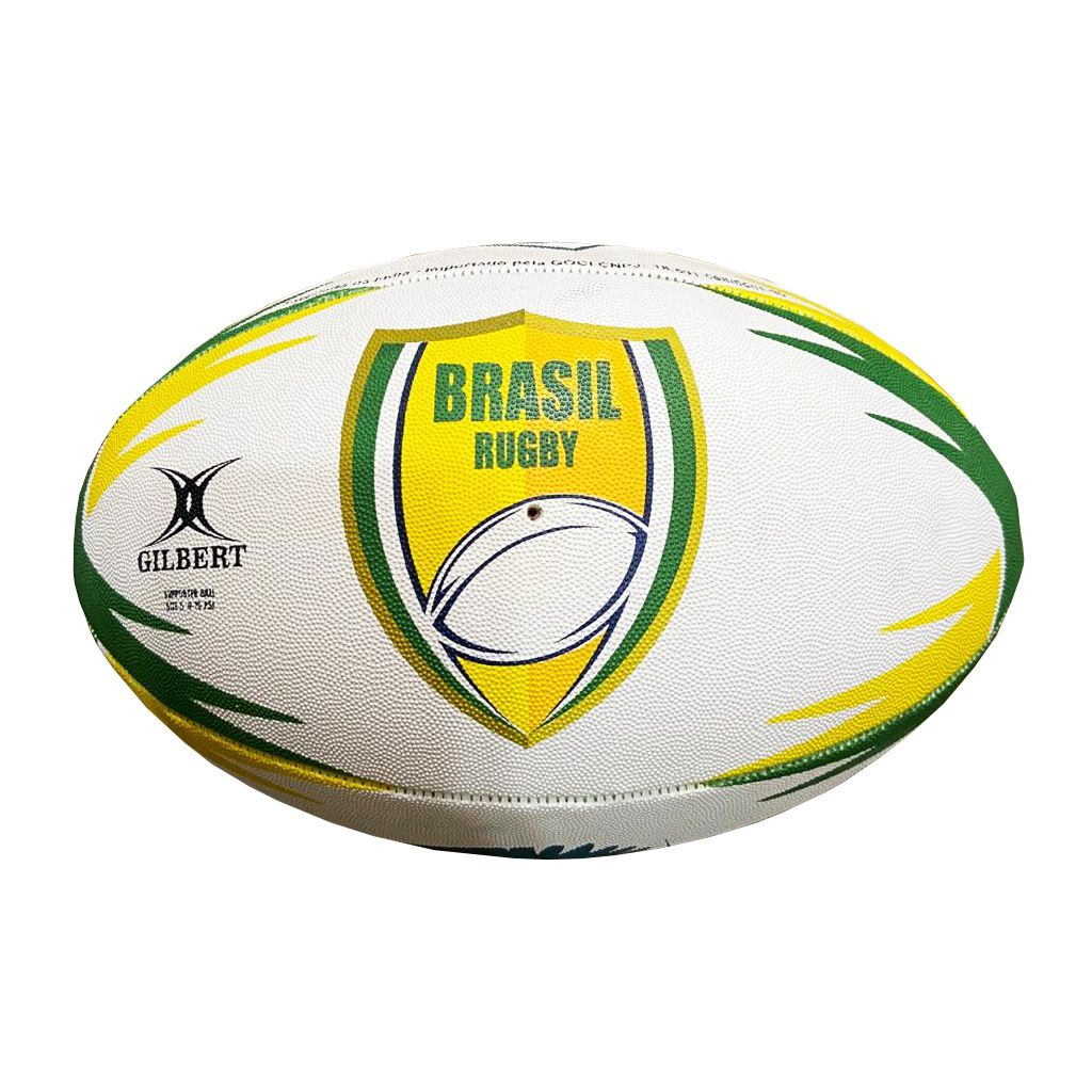 Bola de Rugby Gilbert Supporter Brasil Rugby - Tamanho 5