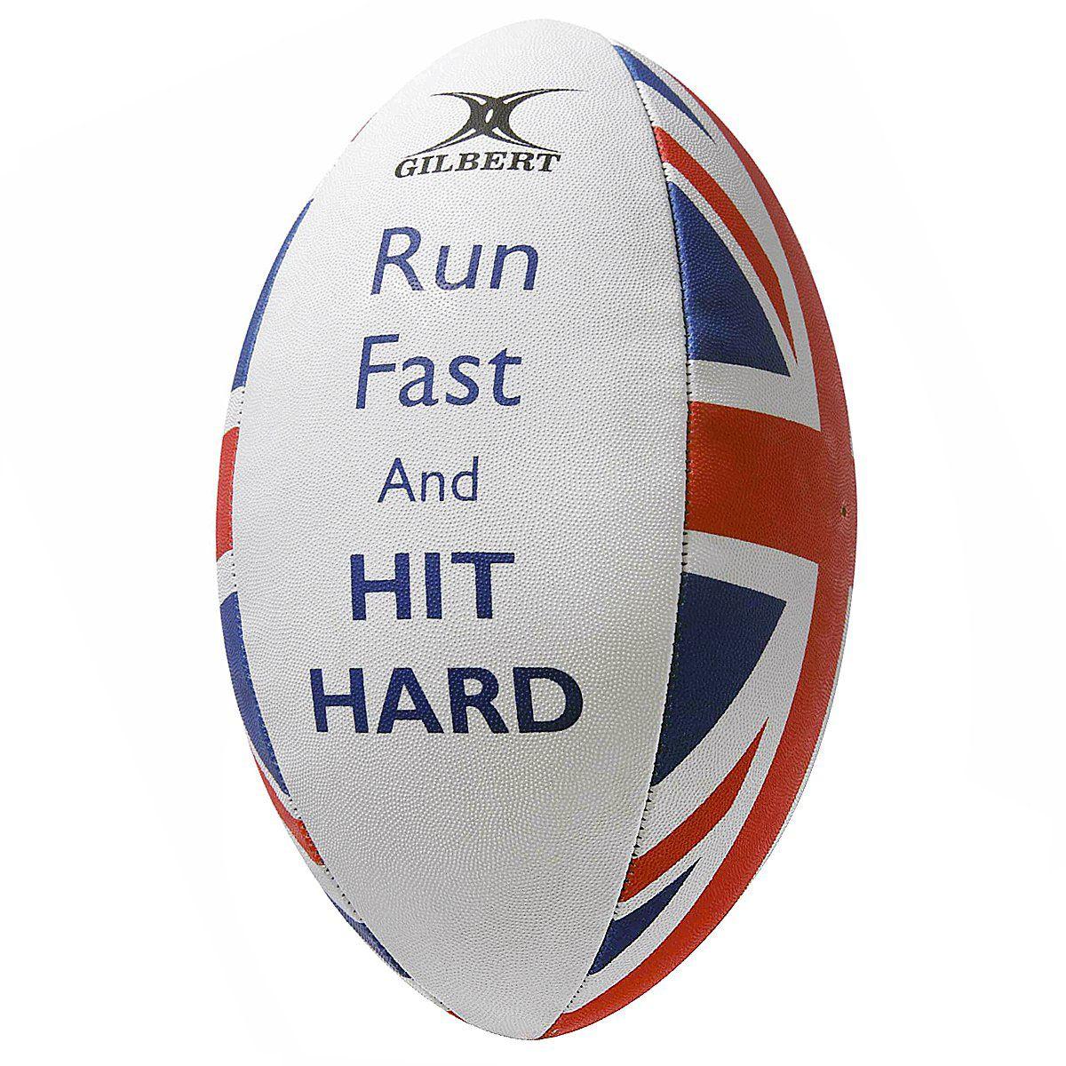 Bola de Rugby Gilbert Supporter Hit Tamanho Rígido - Tamanho 5