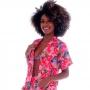 Blusa Kimono de Tactel Amazônia Rosa - Cecí