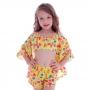 Blusa Kimono de Tactel Infantil Neon Ice Cream - Cecí