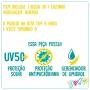 Conjunto Infantil de Proteção UV Raposinha Tropical - Cecí
