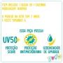 Conjunto Infantil de Proteção UV Teen - Cecí