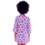 Saida de Praia Infantil Kimono Coração Tie Dye - Cecí