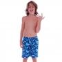 Short Infantil de Tactel Comprido Baleia Azul - Cecí
