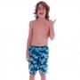 Short Infantil de Tactel Comprido Blue Coconut Tree - Cecí