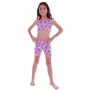 Top Infantil Legging Coração Tie Dye - Cecí