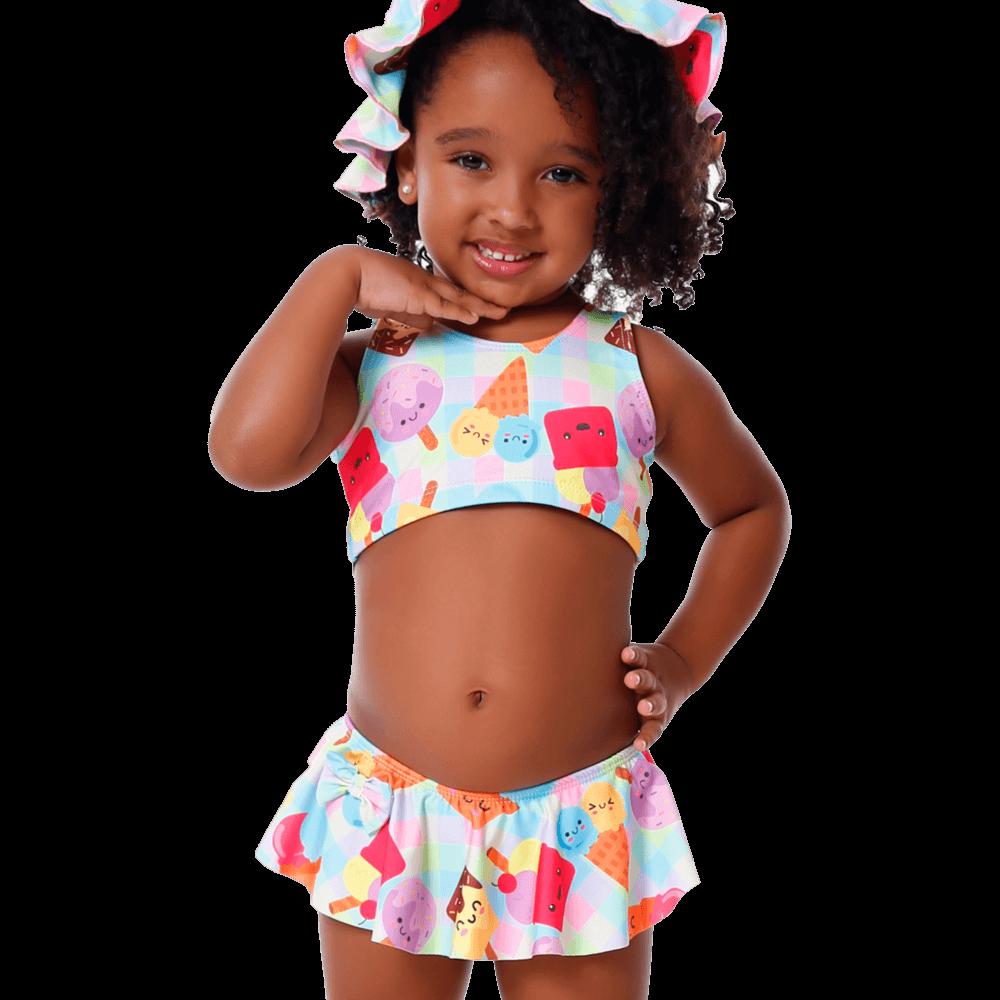Biquini Baby Infantil Picolé Com Proteção UV