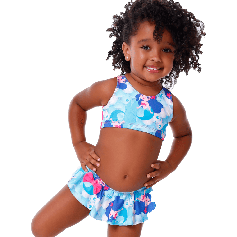 Biquini Baby Infantil Sereia Com Proteção UV