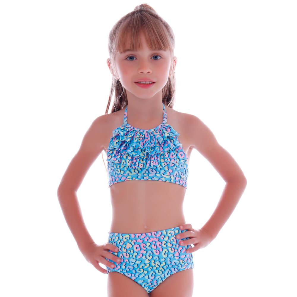 Biquíni Infantil Babadinho Oncinha Candy - Cecí