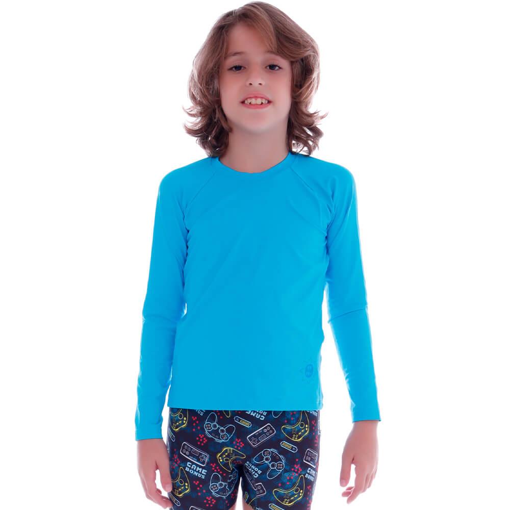 Blusa de Proteção UV Infantil Azul Claro - Cecí
