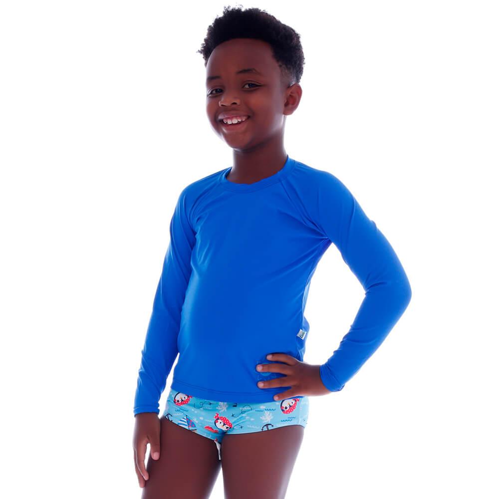 Blusa Infantil de Proteção UV Azul - Cecí