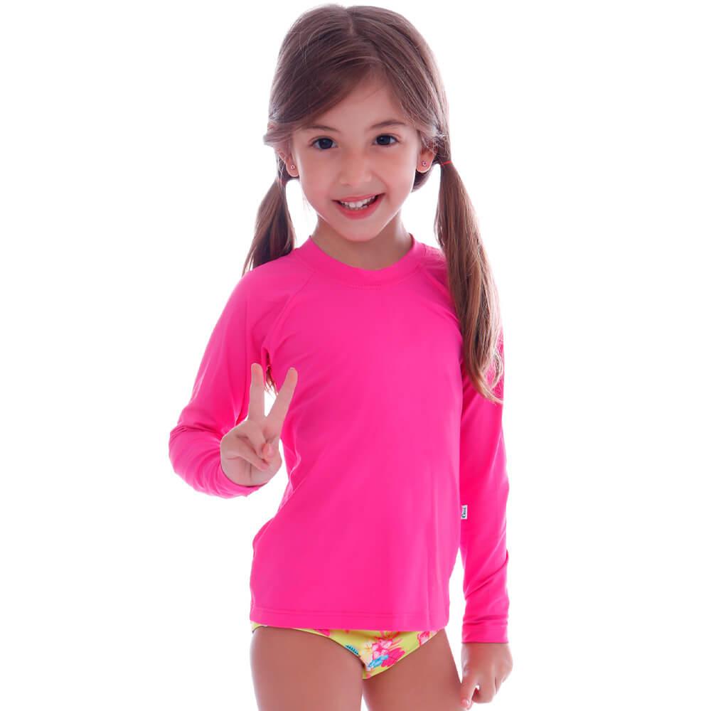 Blusa Infantil de Proteção UV Rosa - Cecí
