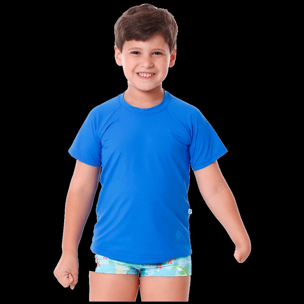 Blusa Infantil Manga Curta de Proteção Uv50+