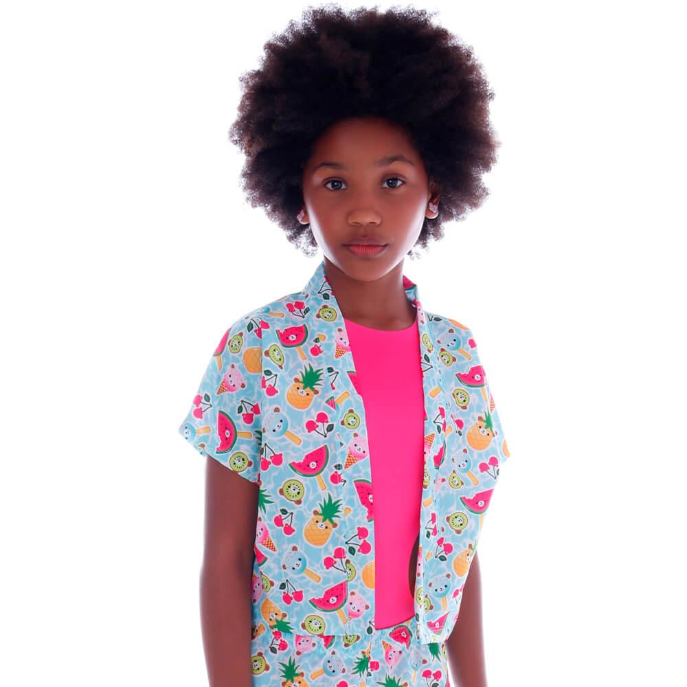 Blusa Kimono de Tactel Infantil Doce Verão - Cecí