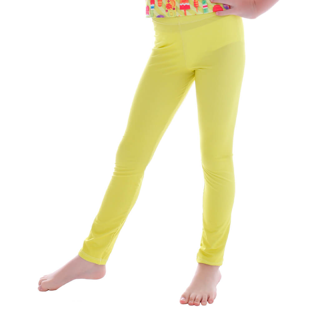 Calça Legging Infantil Amarela - Cecí