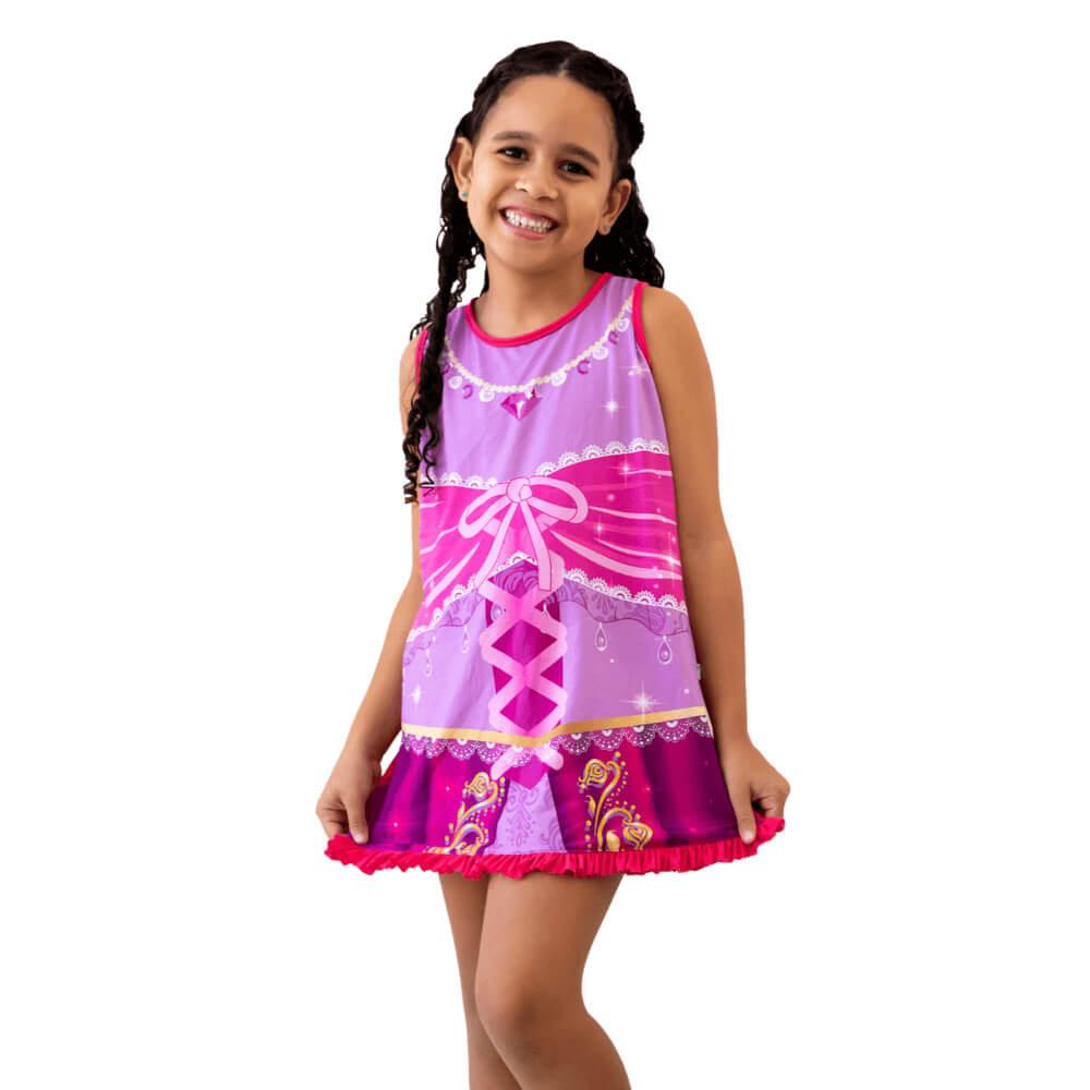 Camisola Infantil de Princesa Sem Manga