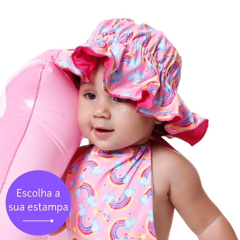 Chapéu Infantil 2 em 1 Com Proteção Solar Uv50+