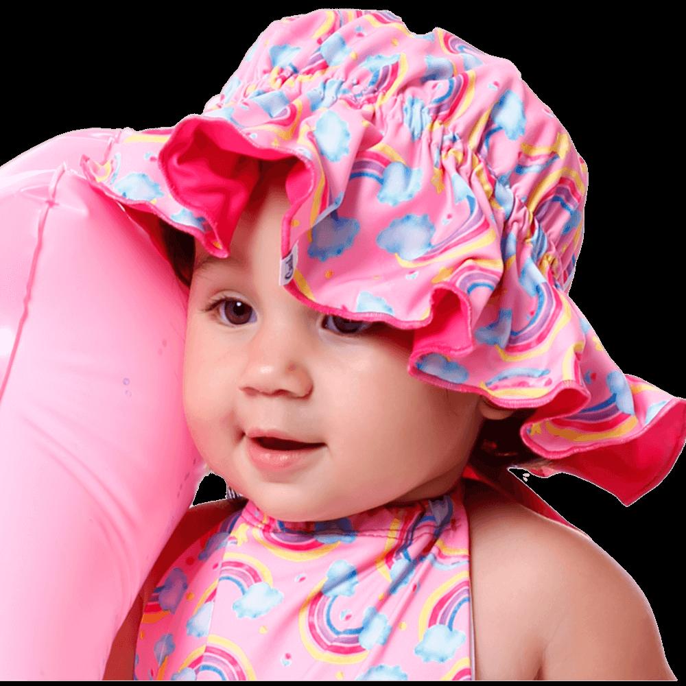Chapéu Infantil 2 em 1 Com Proteção Uv50+