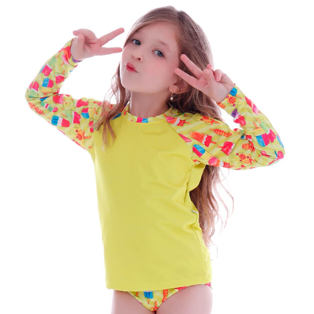 Conjunto de Proteção UV Infantil Neon Ice Cream - Cecí