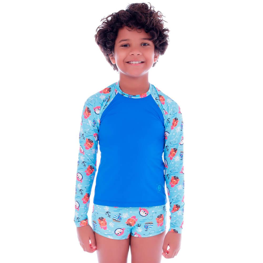 Conjunto de Proteção UV Infantil Piratinhas - Cecí