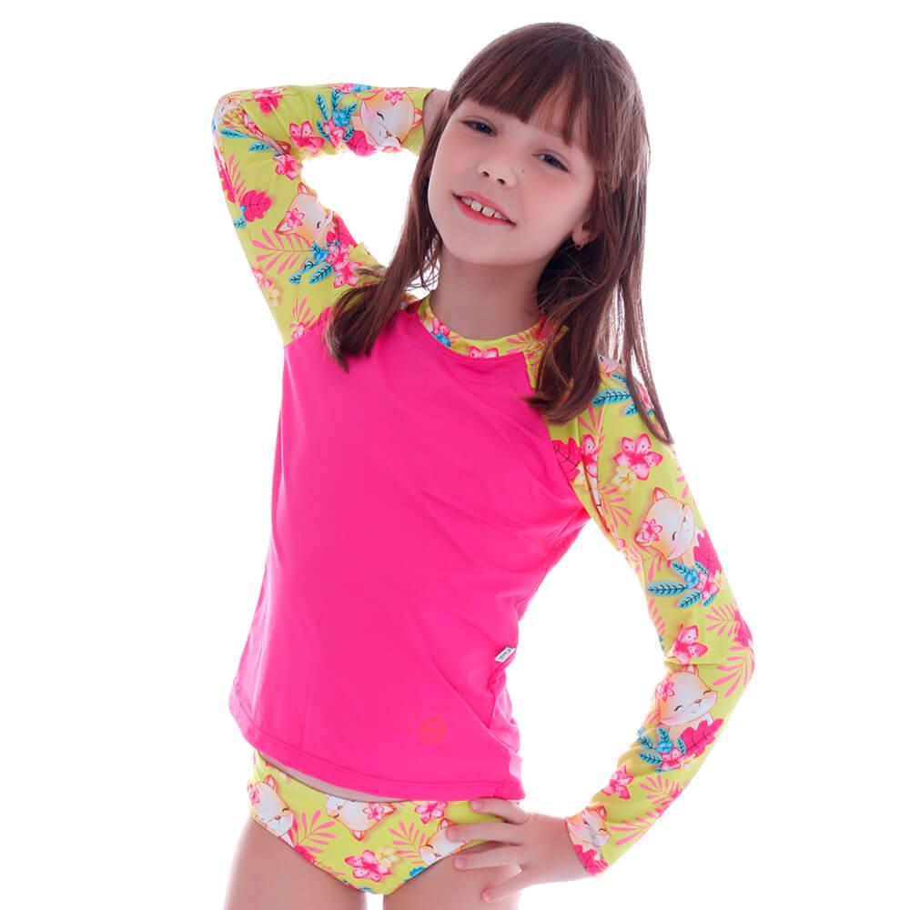 Conjunto de Proteção UV Infantil Raposinha Tropical - Cecí