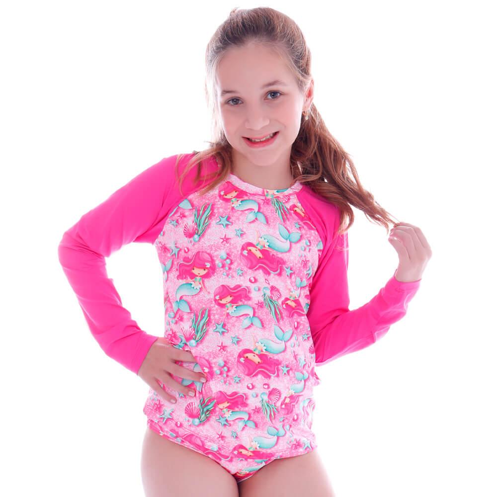 Conjunto de Proteção UV Infantil Sereia Glam - Cecí