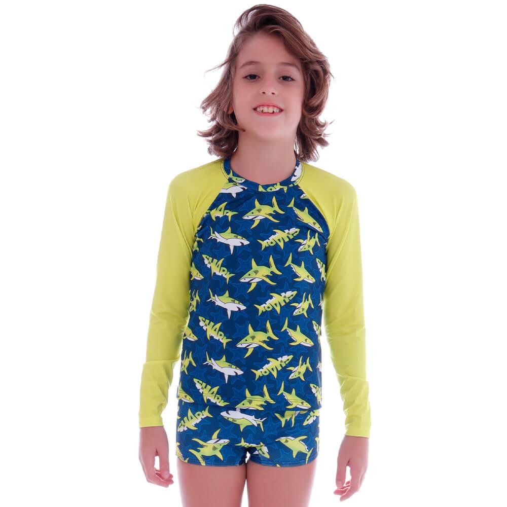 Conjunto de Proteção UV Infantil Shark - Cecí