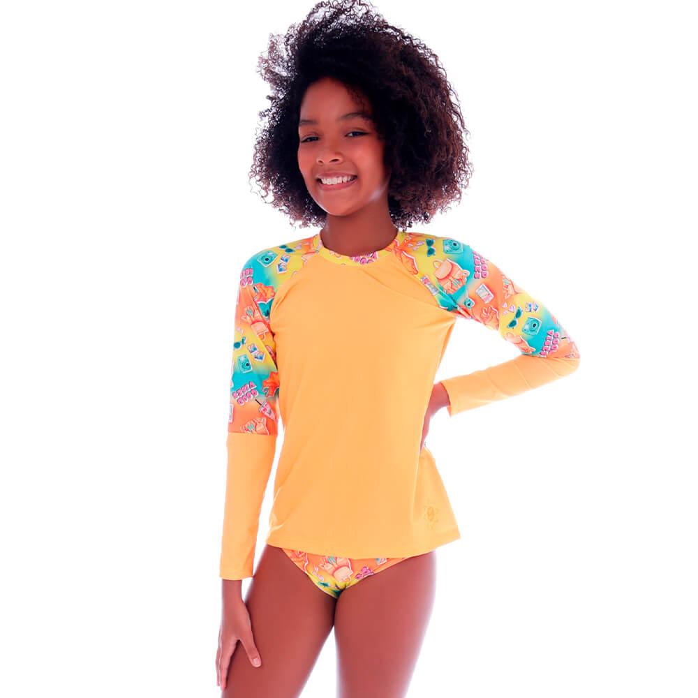 Conjunto de Proteção UV Infantil Summer Good Vibes - Cecí
