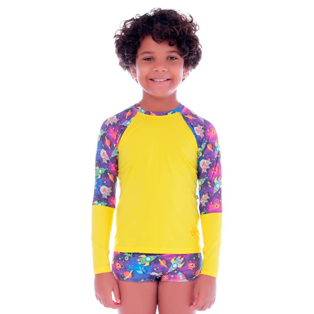 Conjunto Infantil de Proteção UV Diversão Espacial - Cecí