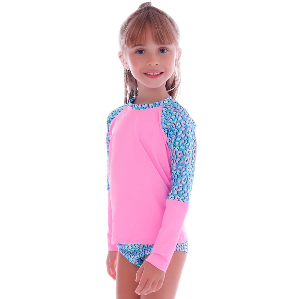 Conjunto Infantil de Proteção UV Oncinha Candy - Cecí
