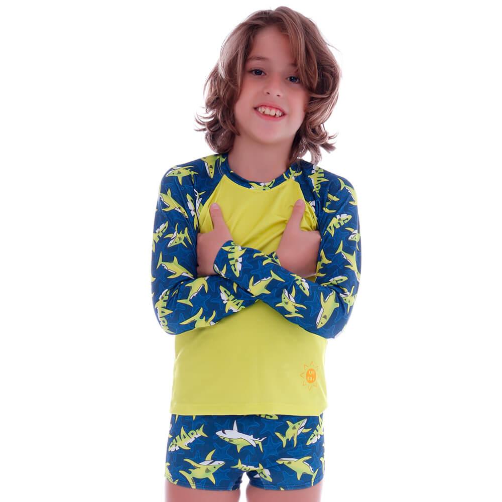 Conjunto Infantil de Proteção UV Shark - Cecí