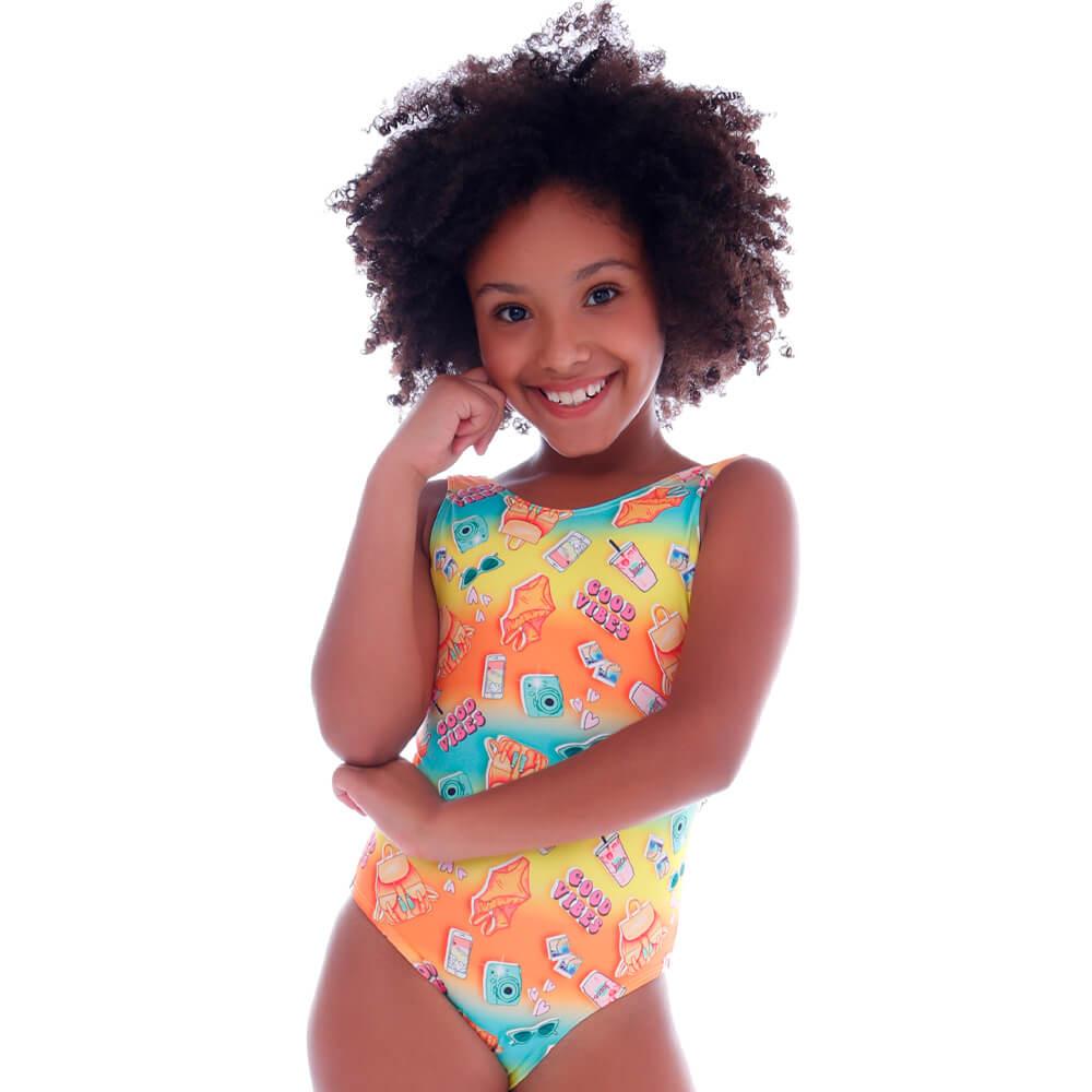 Maiô Infantil Summer Good Vibes - Cecí