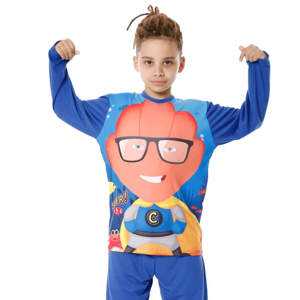 Pijama Infantil Super Concha Manga Longa
