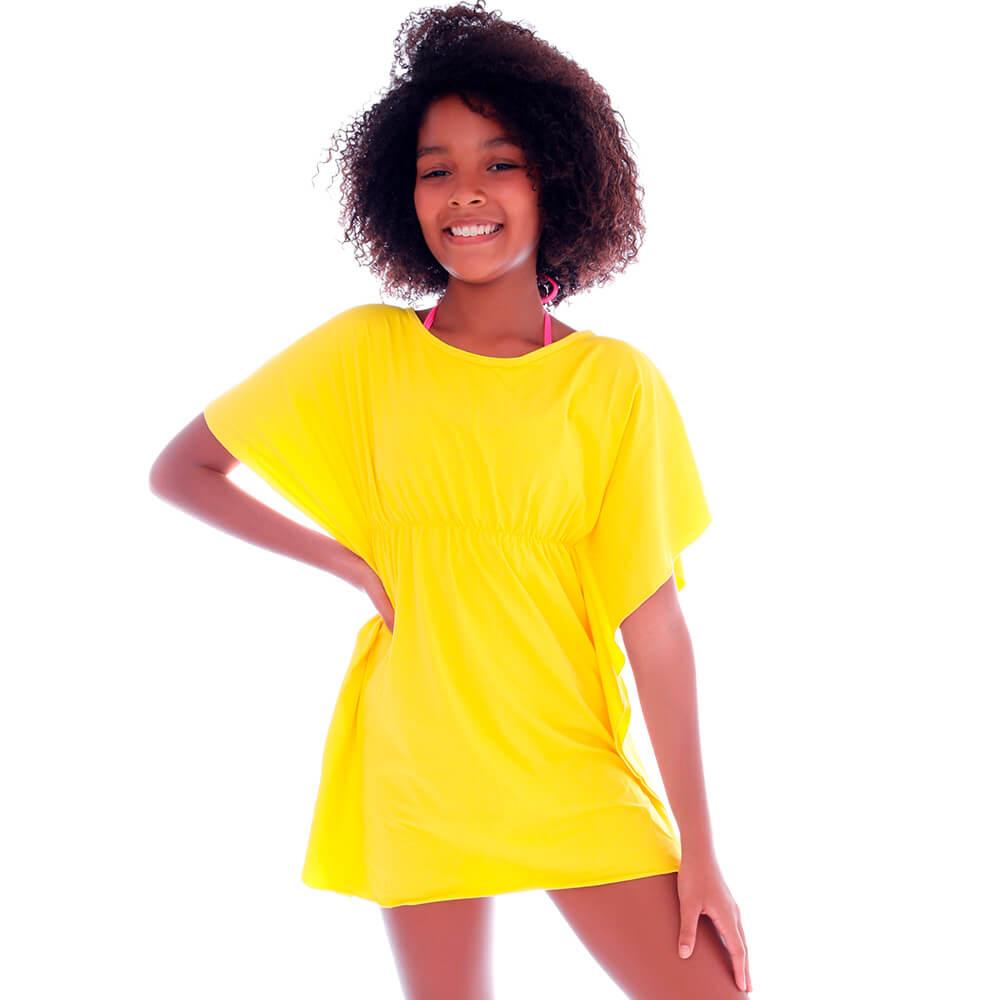 Saida de Praia Kaftan Infantil Amarela  - Cecí