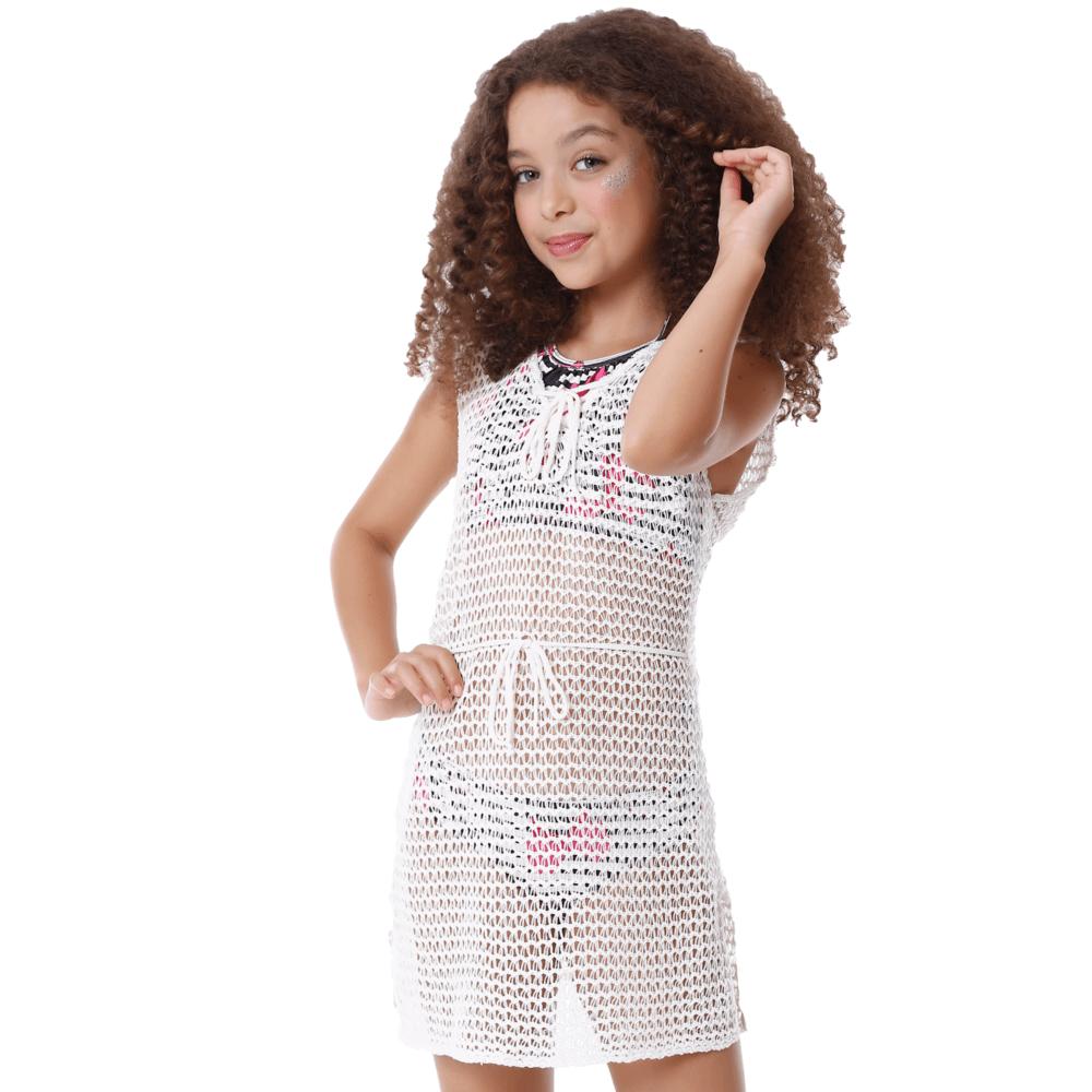 Saida Infantil de Tricô Vestidinho