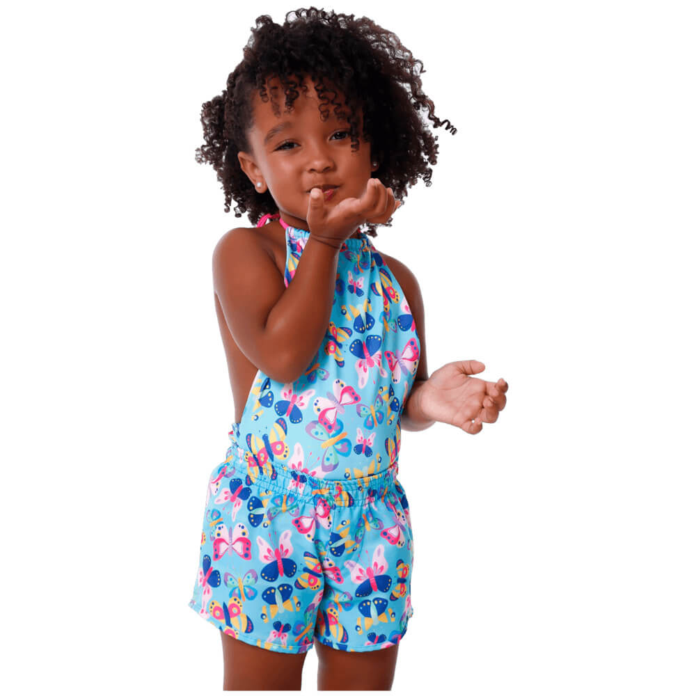 Short Infantil de Tactel Com Proteção UV