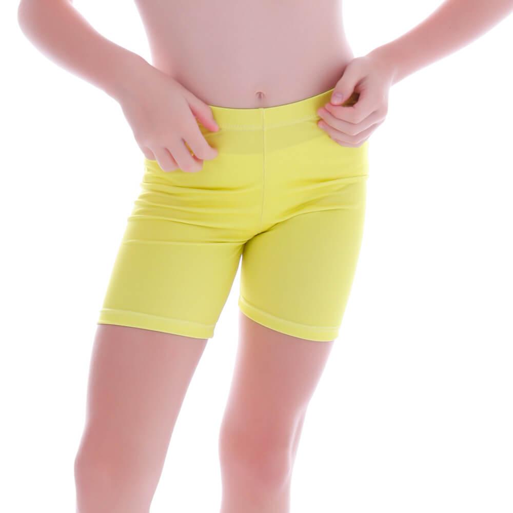 Short Legging Infantil Amarela - Cecí