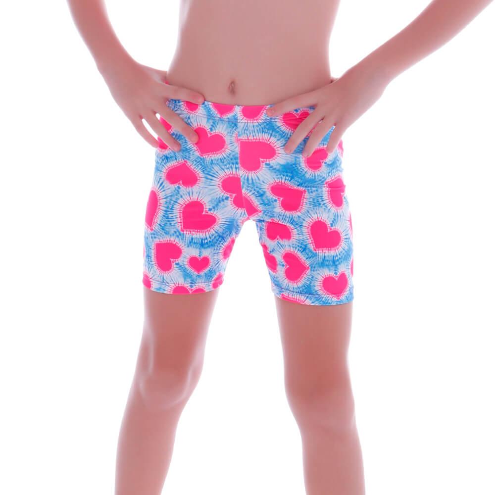 Short Infantil Legging Coração Tie Dye - Cecí