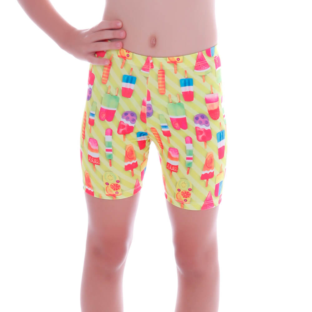 Short Legging Infantil Neon Ice Cream - Cecí