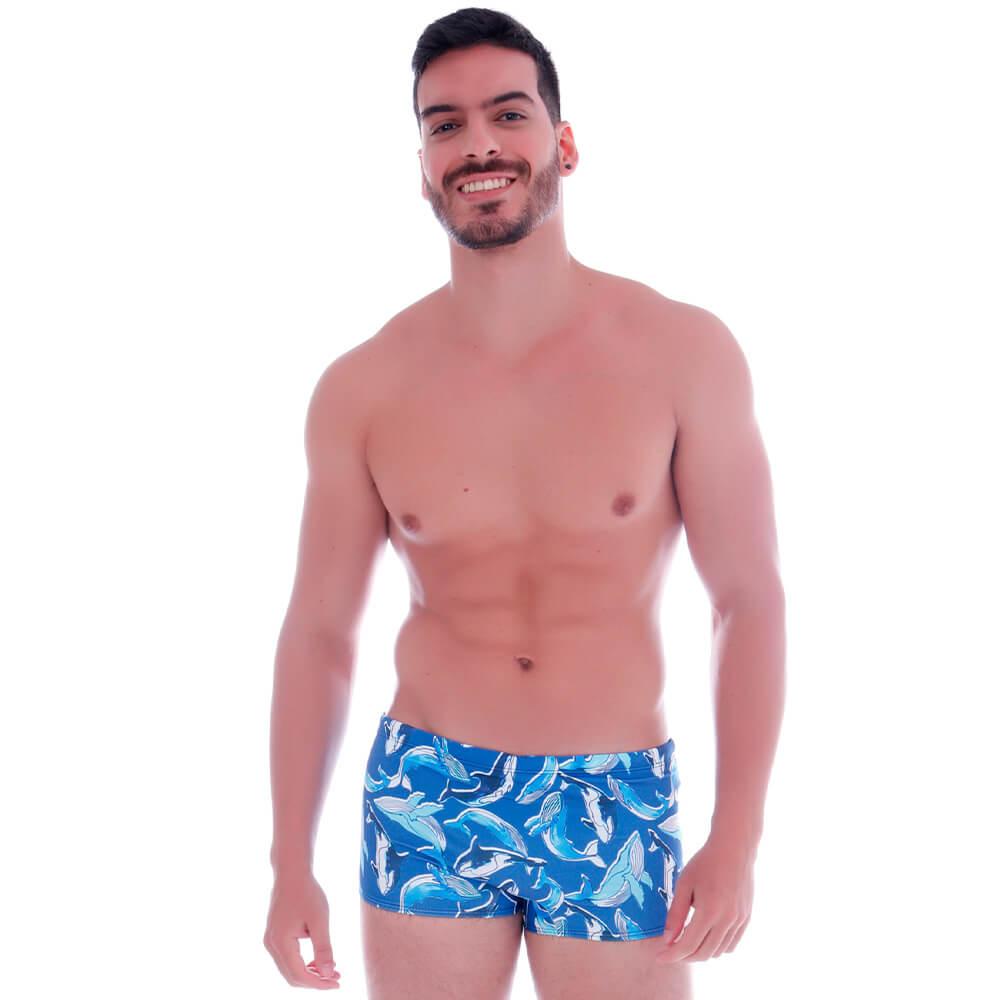Sunga Boxer Baleia Azul - Cecí