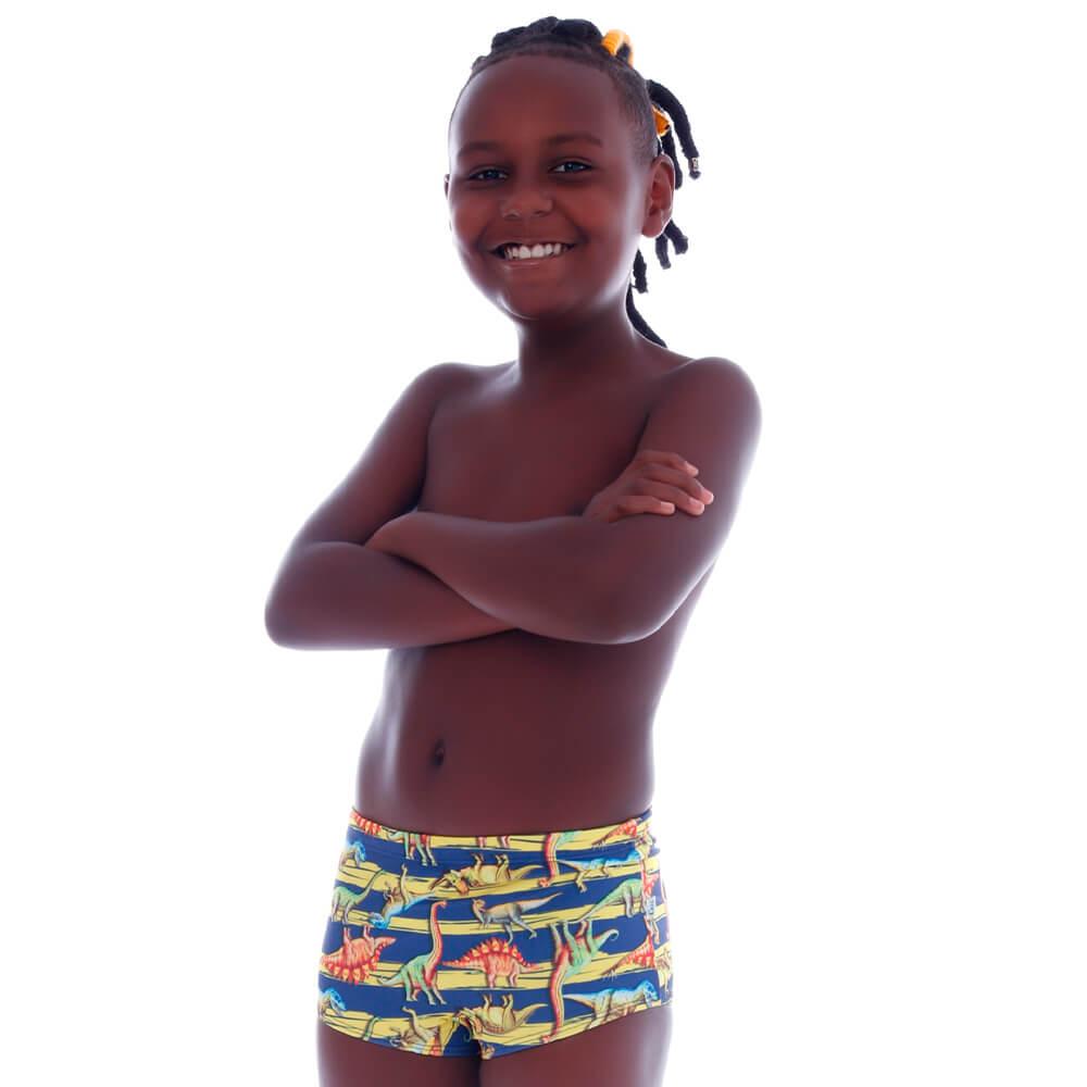 Sunga Boxer Infantil Listra Dinossauro - Cecí