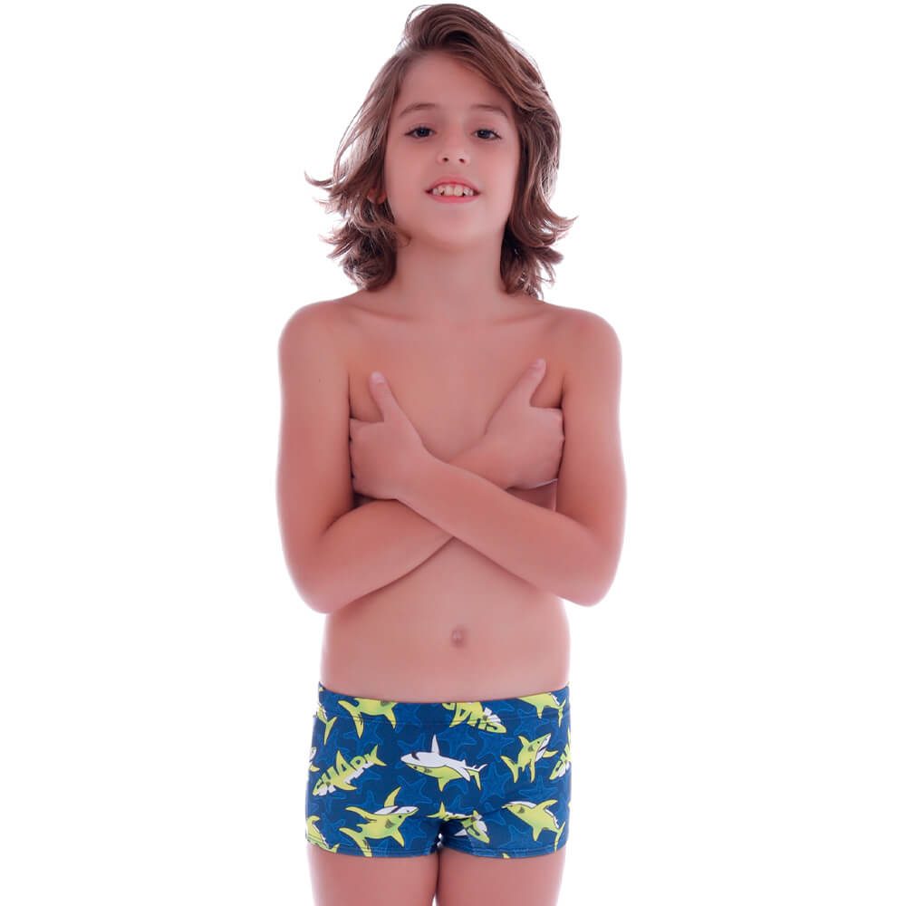Sunga Boxer Infantil Shark - Cecí